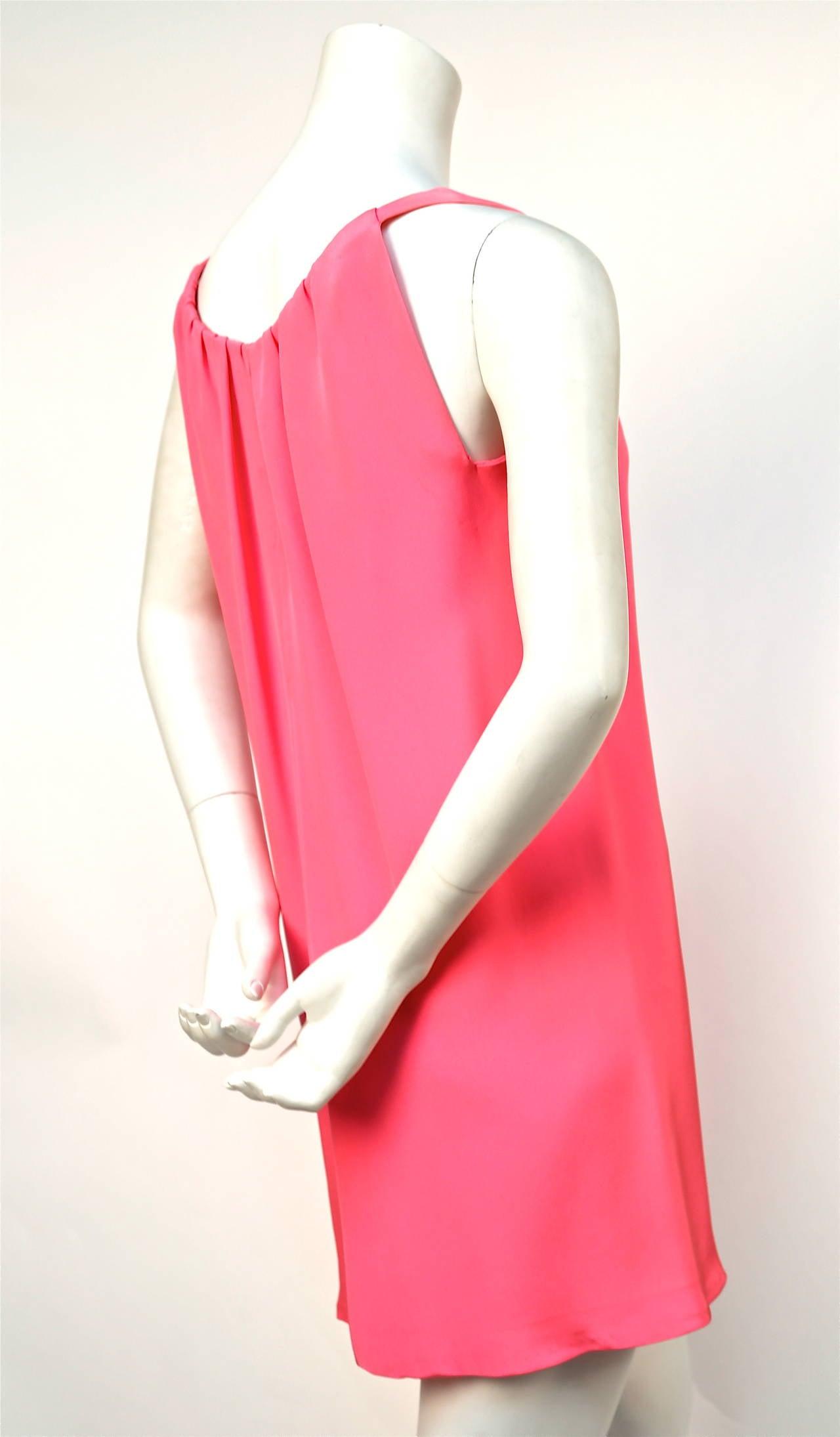 1960 39 s eisa balenciaga haute couture fuchsia silk dress for 1960 s haute couture