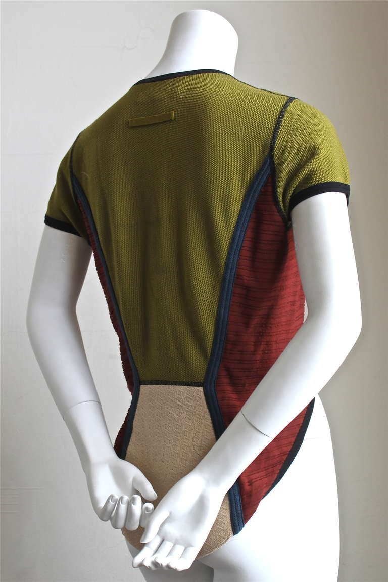 very rare 1990's JEAN PAUL GAULTIER knit top with hi-low hemline 3