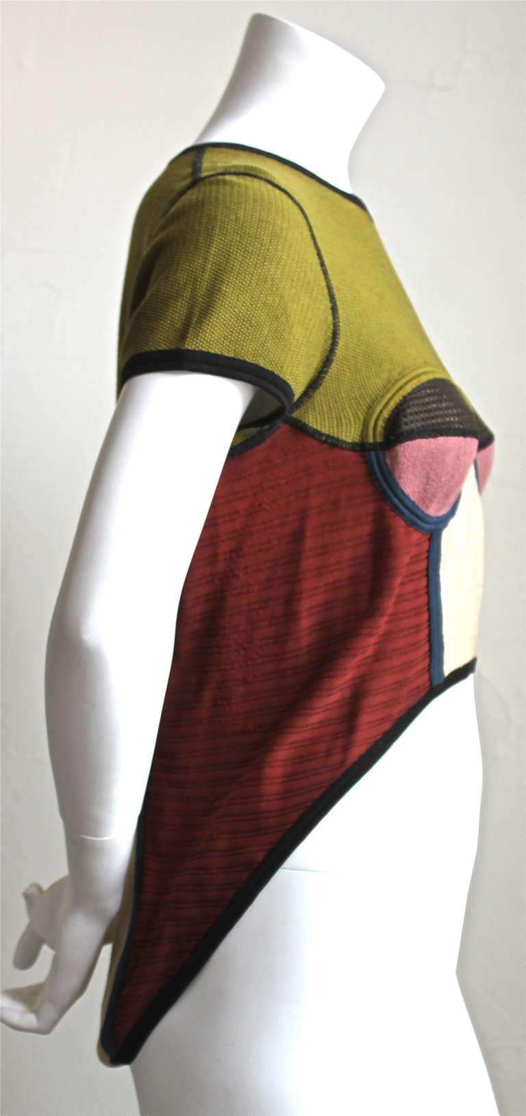very rare 1990's JEAN PAUL GAULTIER knit top with hi-low hemline 2