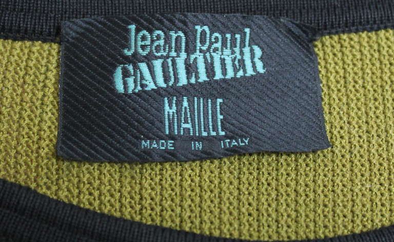 very rare 1990's JEAN PAUL GAULTIER knit top with hi-low hemline 4