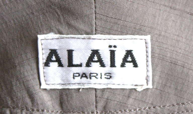 very rare 1980's AZZEDINE ALAIA taupe raw silk dress 5