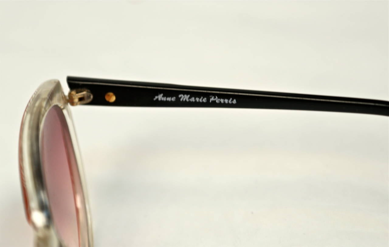 1980's ANNE MARIE PERRIS mother of pearl and plastic sunglasses 4