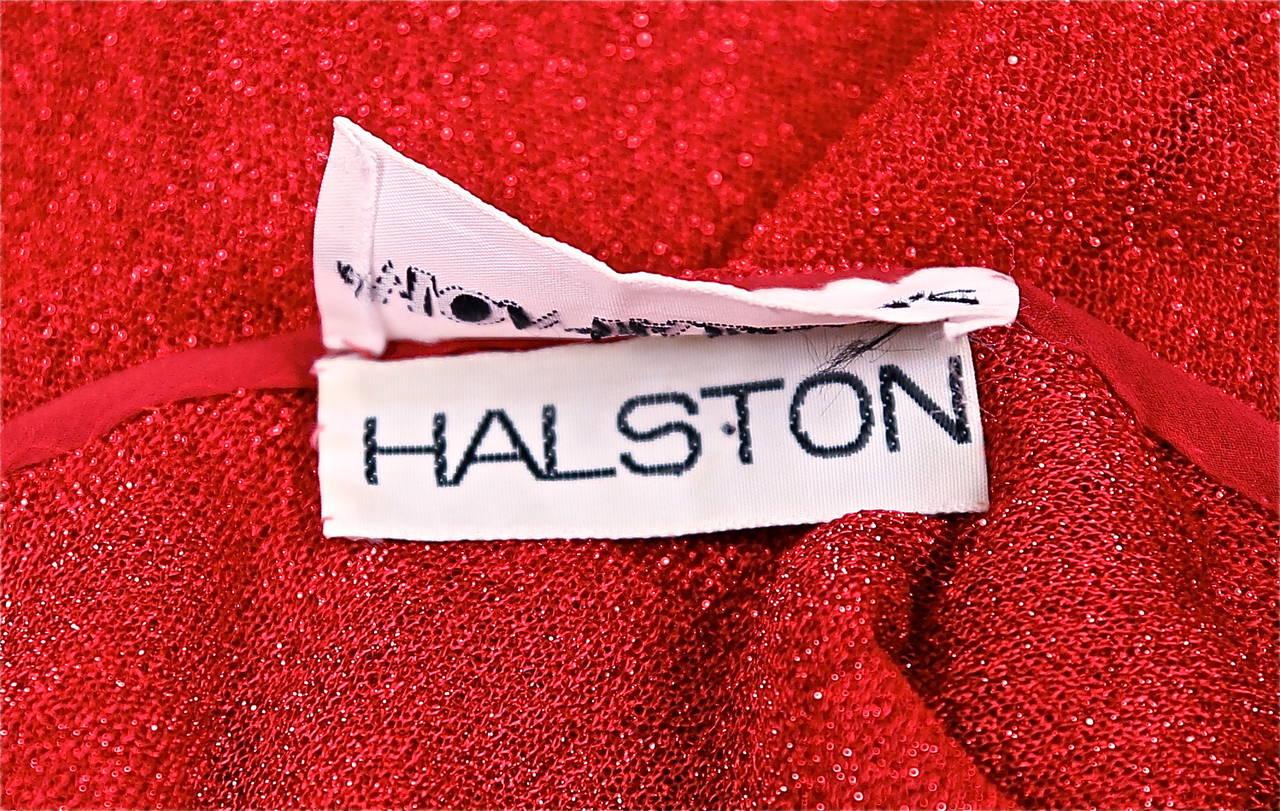 Women's Halston fuchsia lurex dress, 1970s  For Sale