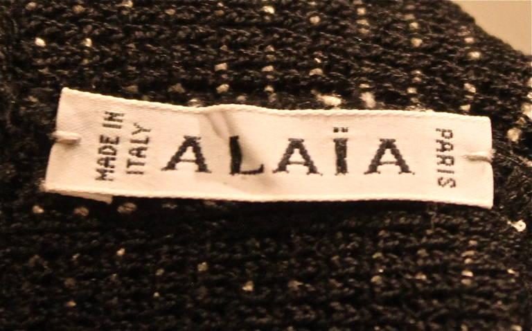 1990's AZZEDINE ALAIA black and white textured mini dress - Unworn 4
