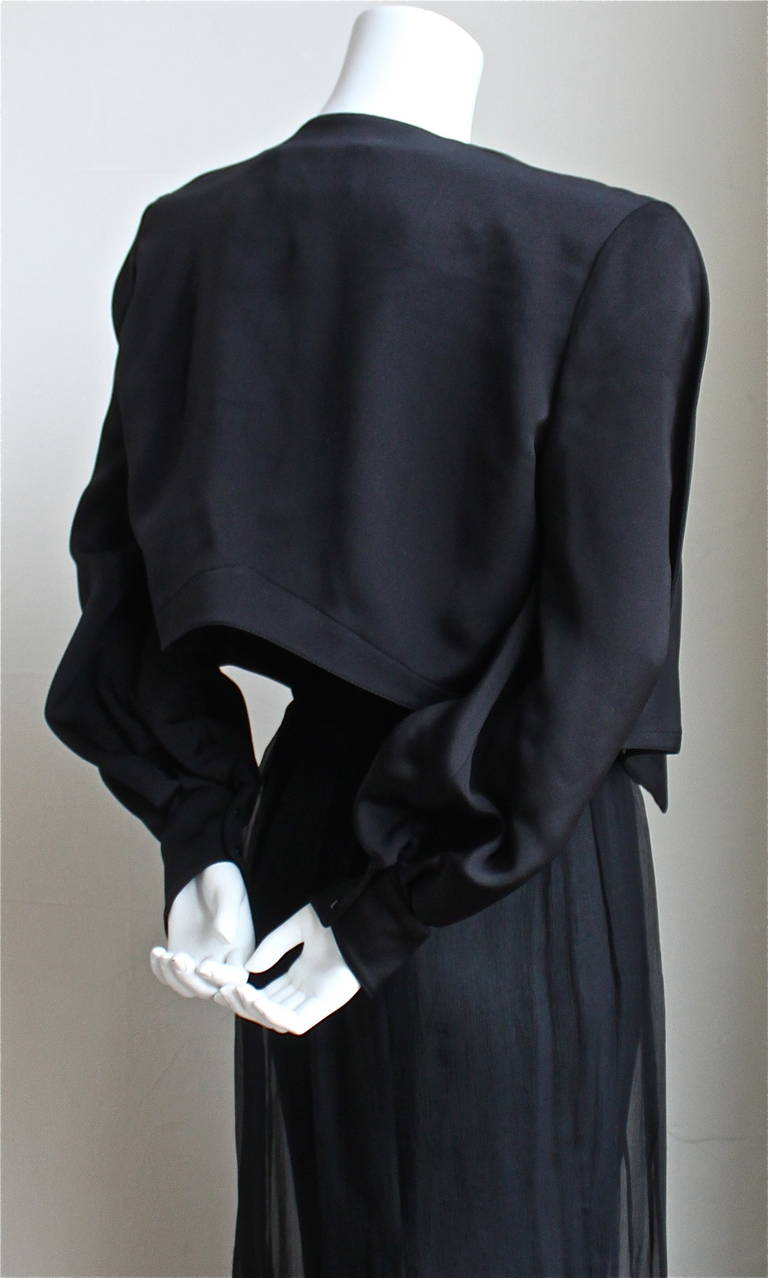 very rare 1988 THIERY MUGLER winged velvet bustier sheer silk skirt and jacket 5