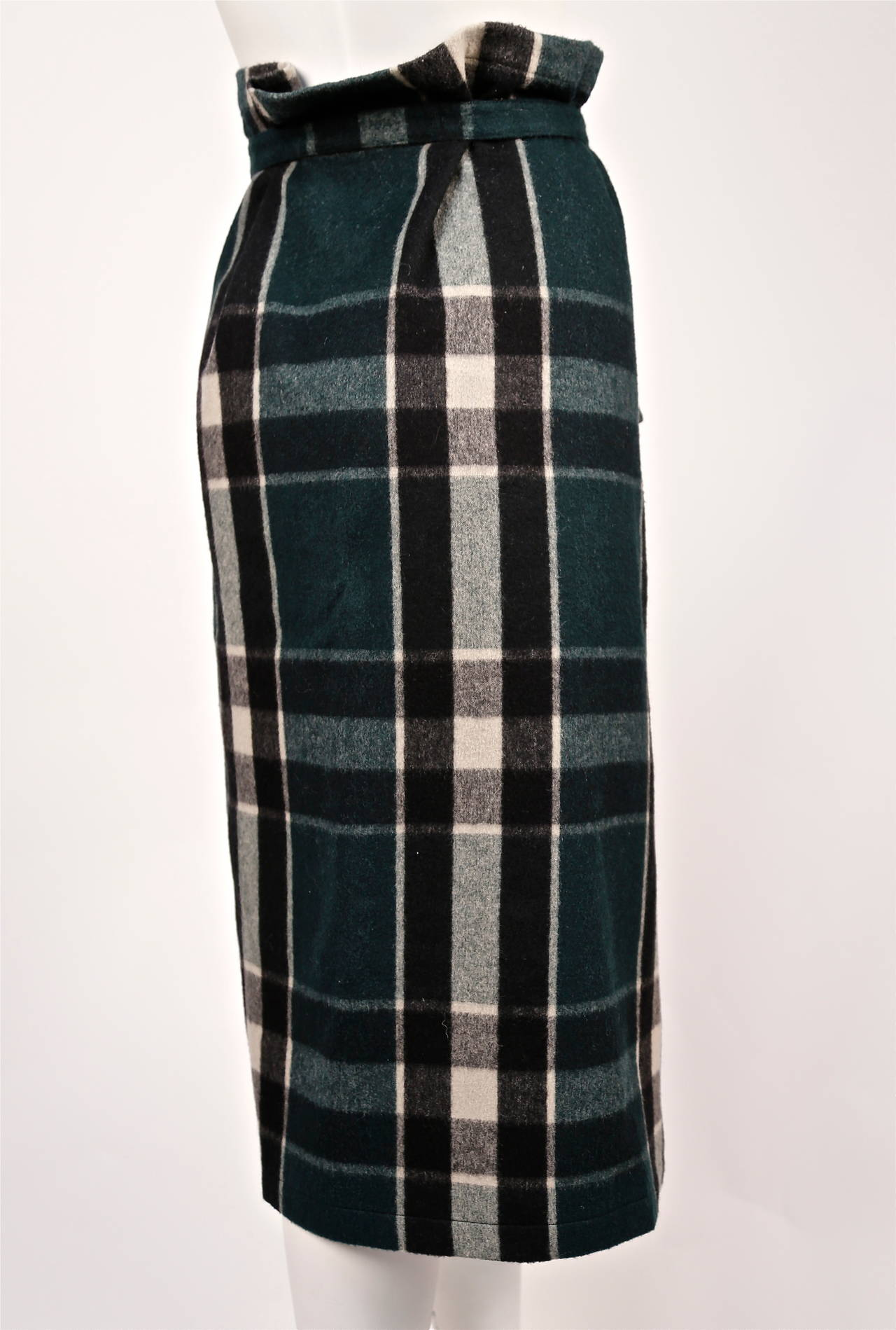 very rare early 1980's COMME DES GARCONS plaid wool ensemble For Sale 1