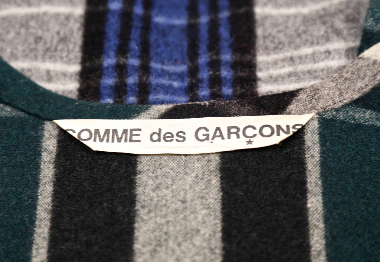 very rare early 1980's COMME DES GARCONS plaid wool ensemble For Sale 3
