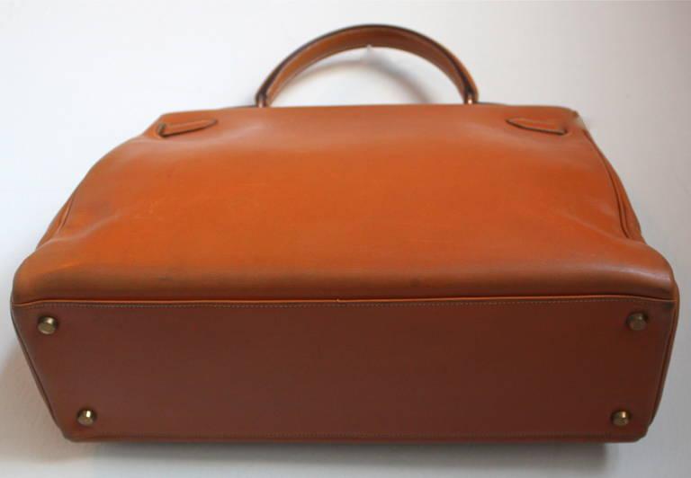 birkin bag inspired - 1945 HERMES KELLY retourne 35 cm veau box leather with shoulder ...