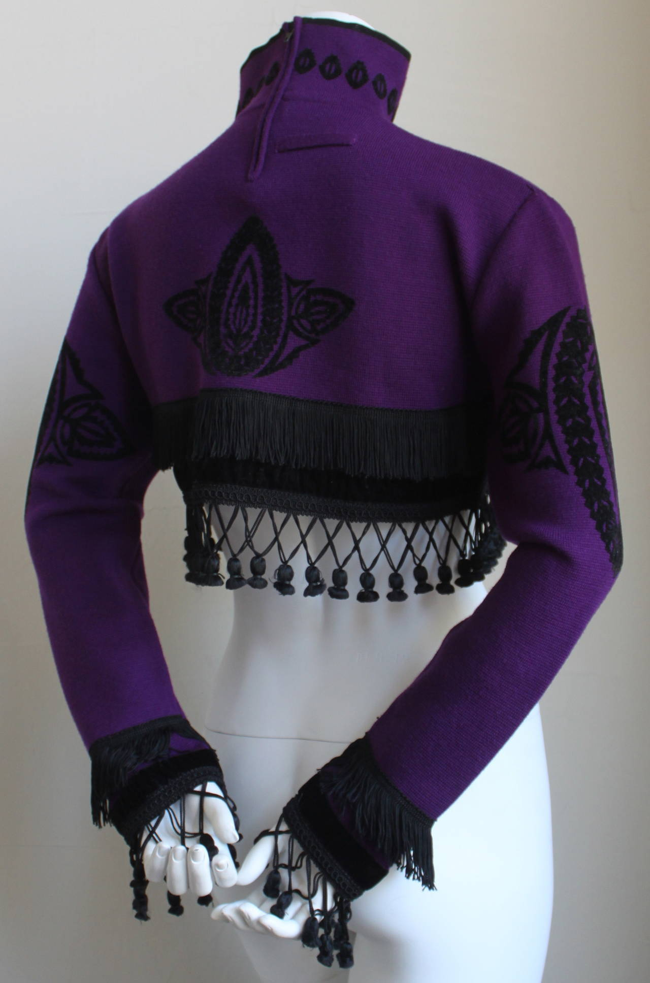 1980's JEAN PAUL GAULTIER for EQUATOR cropped sweater with fringe 2