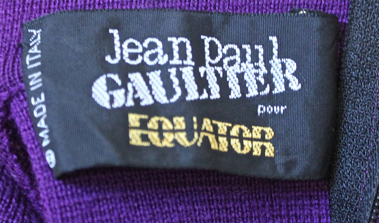 1980's JEAN PAUL GAULTIER for EQUATOR cropped sweater with fringe 3