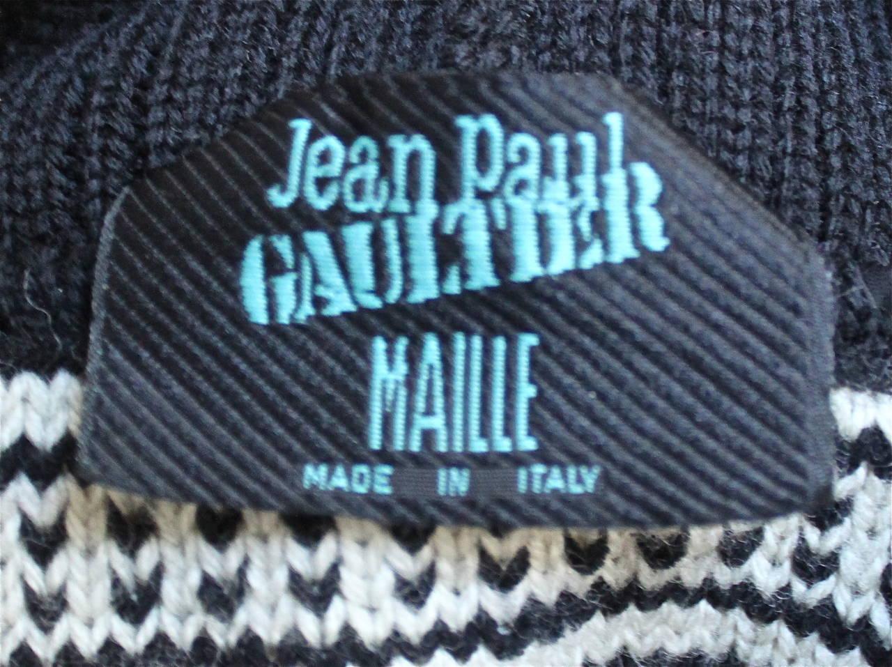 1994 JEAN PAUL GAULTIER 'le grande voyage' runway sweater. 3