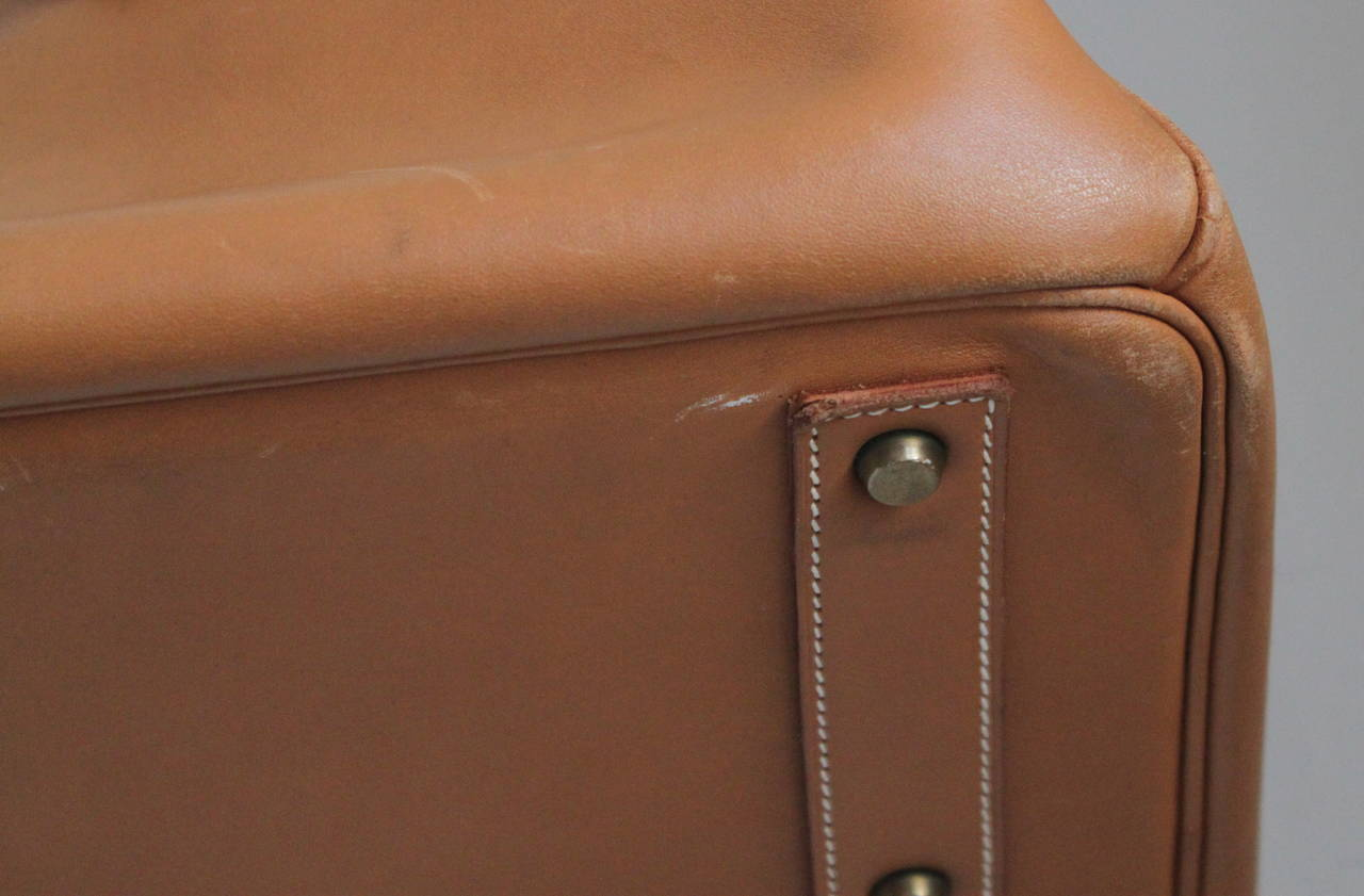 1983 HERMES Haut ¨¤ Courroies 50 cm cache natural leather Birkin ...