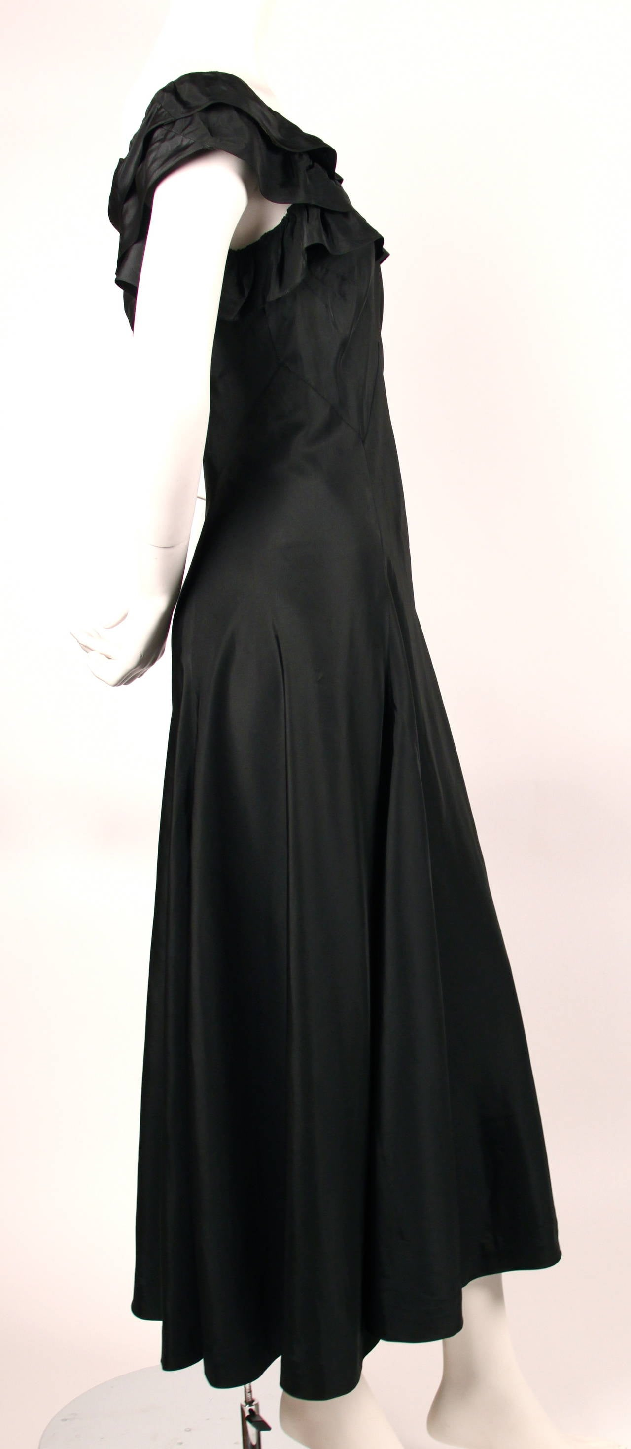 Rare 1933 jeanne lanvin haute couture black evening dress for Haute couture sale