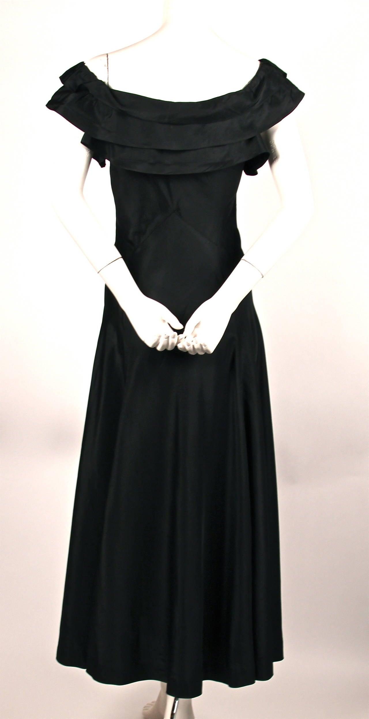 Rare 1933 jeanne lanvin haute couture black evening dress for Haute couture dress price