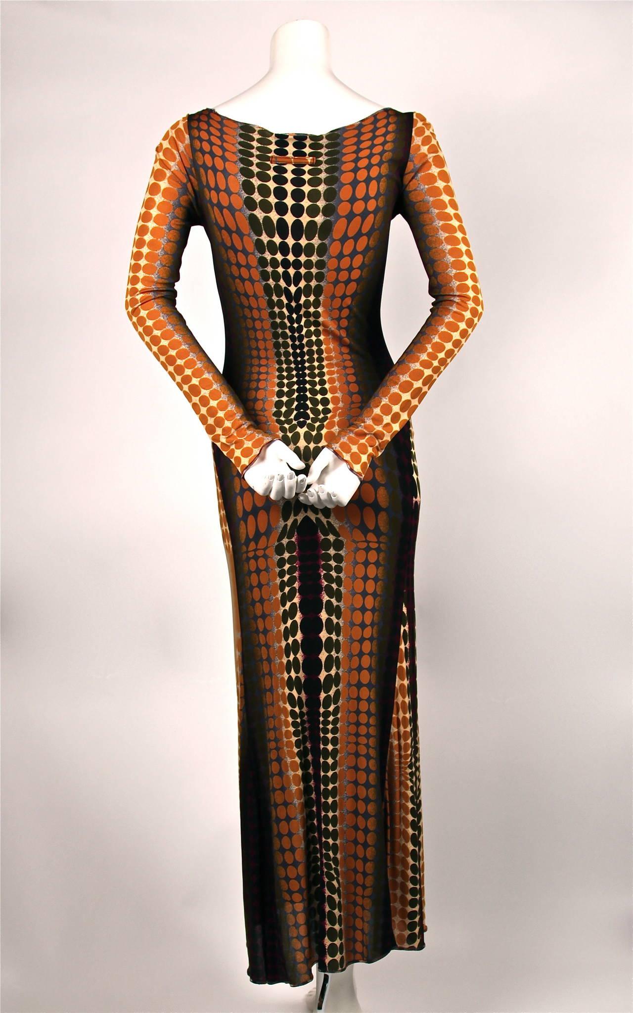 rare JEAN PAUL GAULTIER Op-art cyber print dress - 1995 4