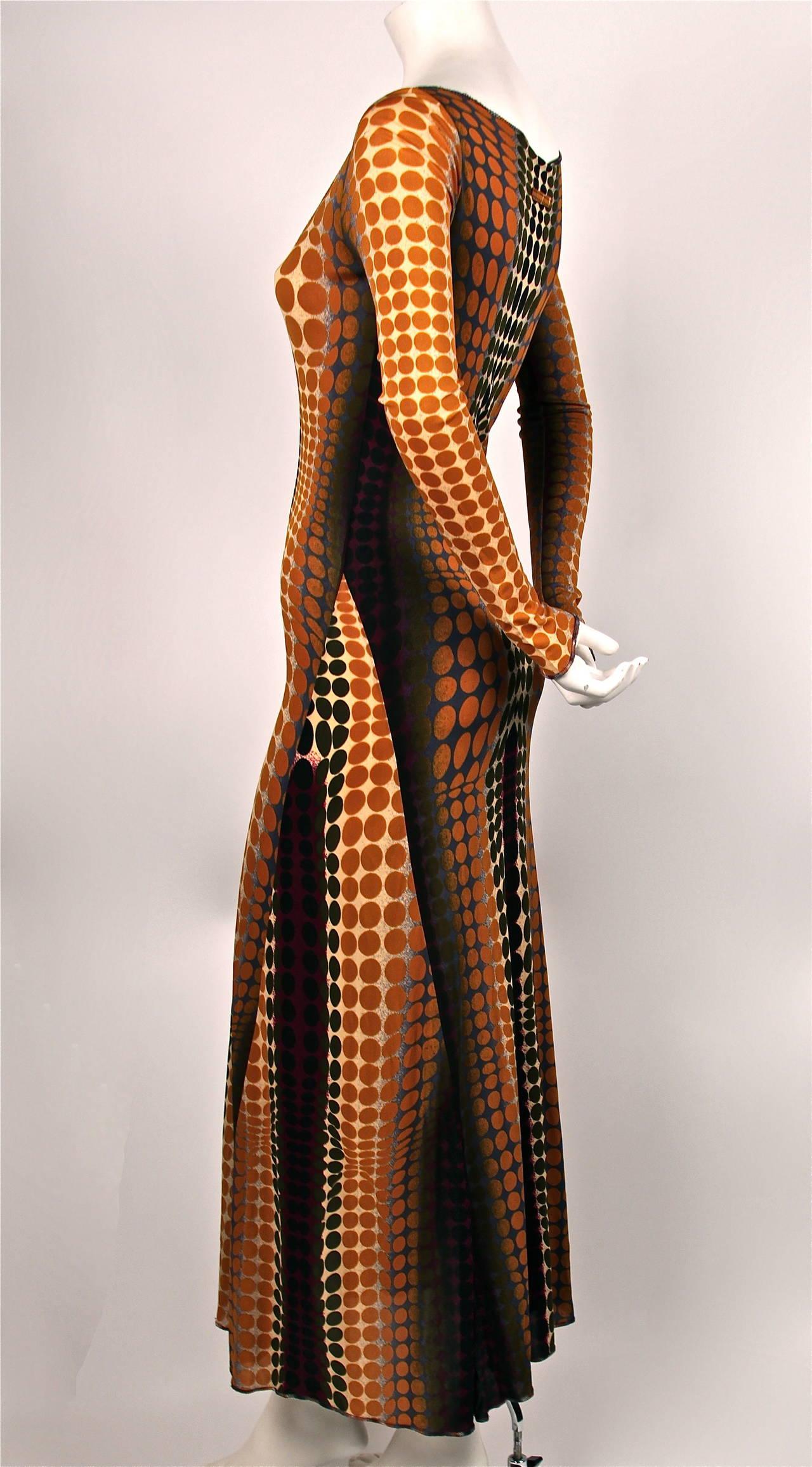 rare JEAN PAUL GAULTIER Op-art cyber print dress - 1995 3