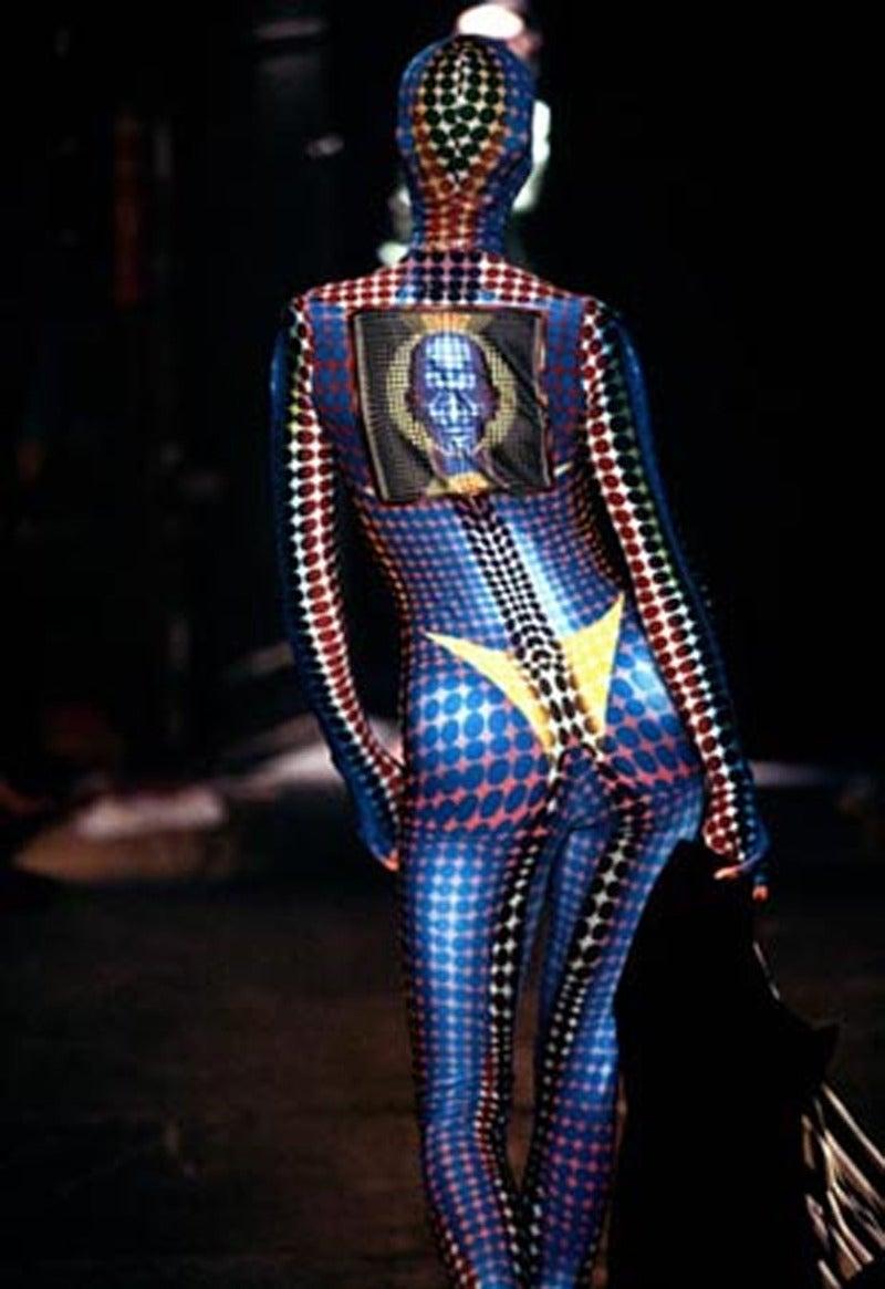 rare JEAN PAUL GAULTIER Op-art cyber print dress - 1995 6