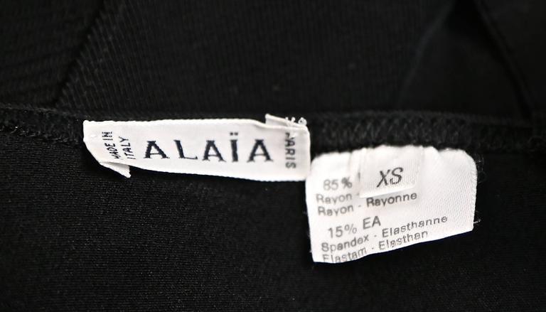1990's AZZEDINE ALAIA black bodysuit  4