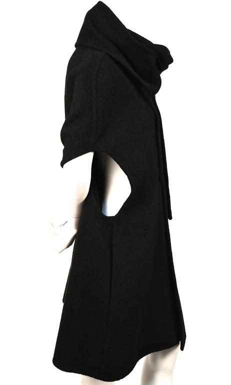 RICK OWENS black cashmere cape coat  4