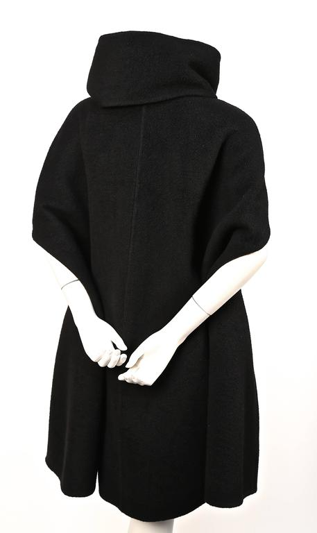 RICK OWENS black cashmere cape coat  2