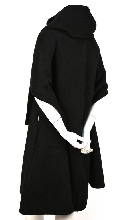 RICK OWENS black cashmere cape coat  3