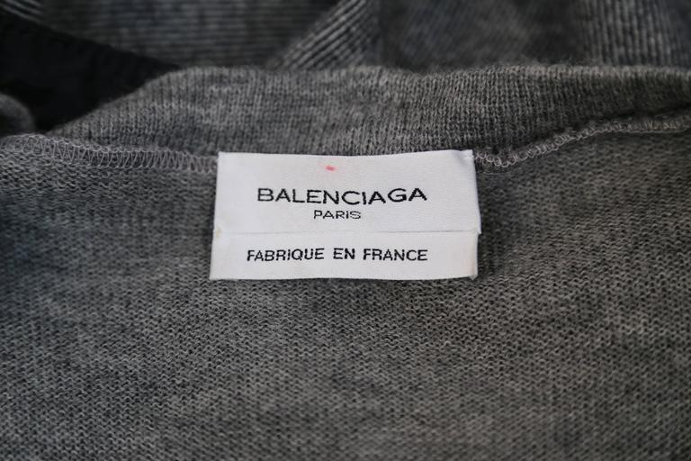 Women's or Men's 2002 BALENCIAGA by Nicolas Ghesquiere wool and leather patchwork dress For Sale