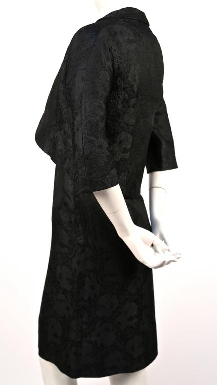 1960's CRISTOBAL BALENCIAGA haute couture black brocade dress and jacket 8