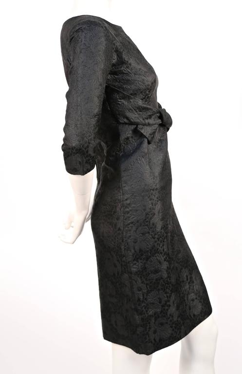 1960's CRISTOBAL BALENCIAGA haute couture black brocade dress and jacket 4