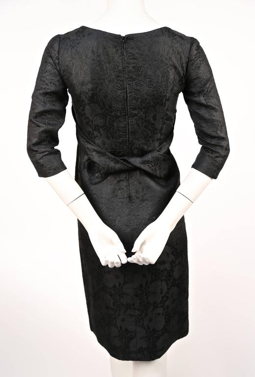 1960's CRISTOBAL BALENCIAGA haute couture black brocade dress and jacket 5