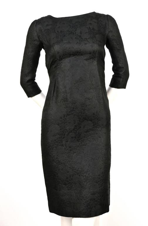 1960's CRISTOBAL BALENCIAGA haute couture black brocade dress and jacket 2