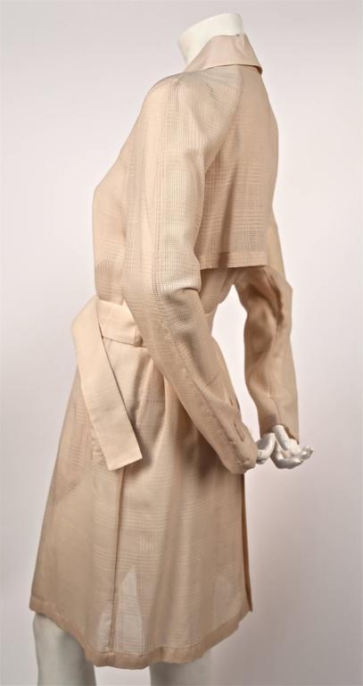 zum halben Preis günstig kaufen bester Wert 1997 HELMUT LANG dust pink sheer trench coat with windowpane weave