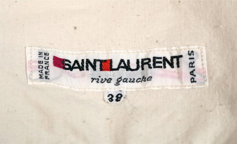 1970's YVES SAINT LAURENT cream cotton muslin peasant top and skirt For Sale 4