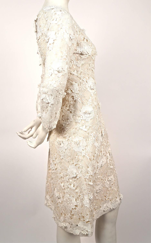 1960 39 s yves saint laurent demi couture venice lace dress for Yves saint laurent wedding dress