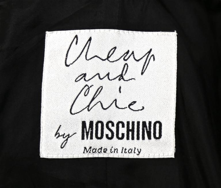 CHEAP AND CHIC by MOSCHINO black bustier minidress 5
