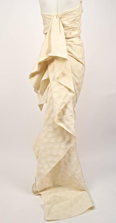 LANVIN collection 'Blanche' cream ruched strapless gown 5