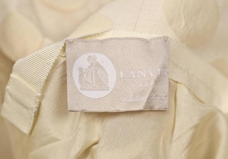 LANVIN collection 'Blanche' cream ruched strapless gown 6