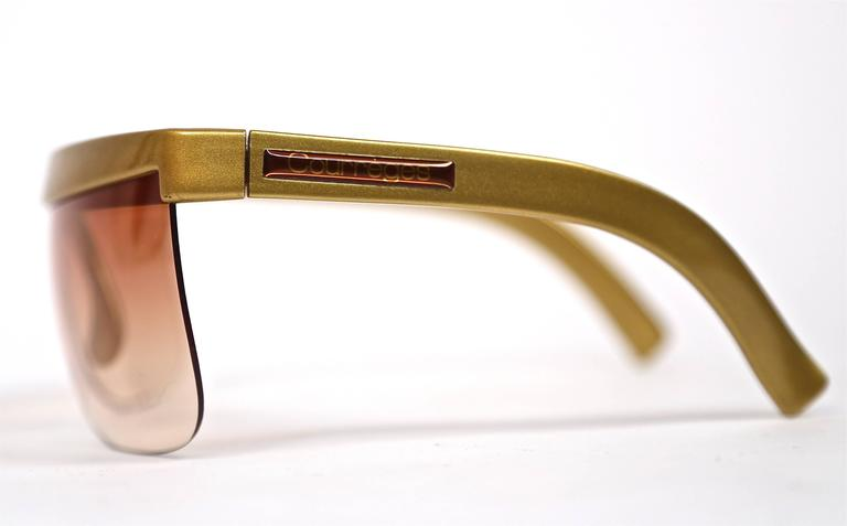 1970's COURREGES gold plastic sunglasses 2