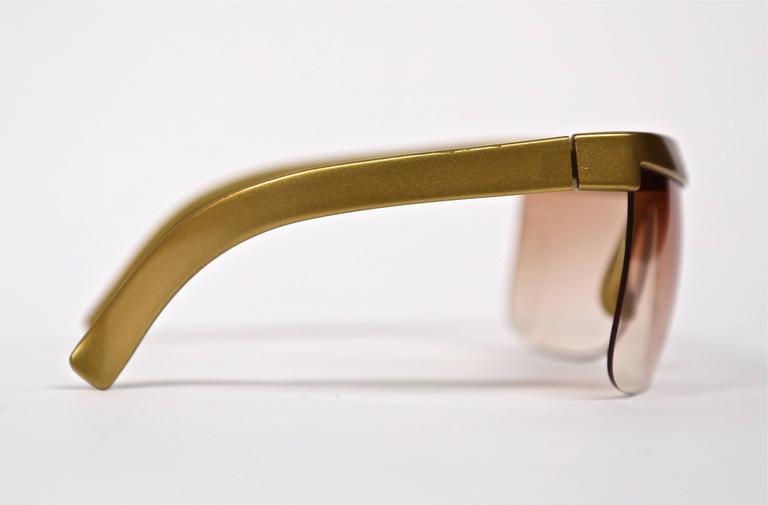 1970's COURREGES gold plastic sunglasses 3