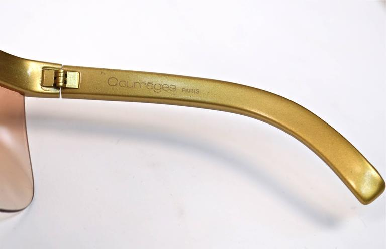 1970's COURREGES gold plastic sunglasses 4