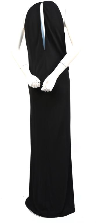 Tom Ford for Gucci black jersey gown with gold belt buckle, 1996  In Excellent Condition For Sale In San Fransisco, CA