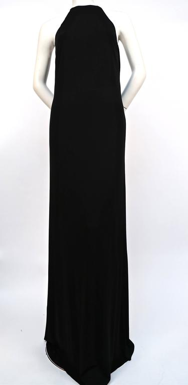 Women's or Men's Tom Ford for Gucci black jersey gown with gold belt buckle, 1996  For Sale