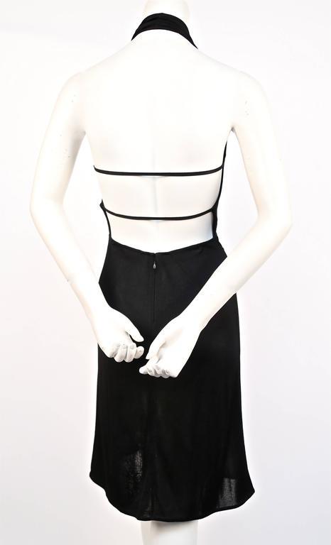 Black 1990's AZZEDINE ALAIA black halter dress For Sale