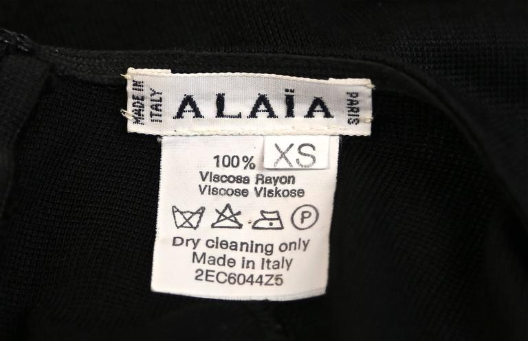 1990's AZZEDINE ALAIA black halter dress In Excellent Condition For Sale In San Fransisco, CA