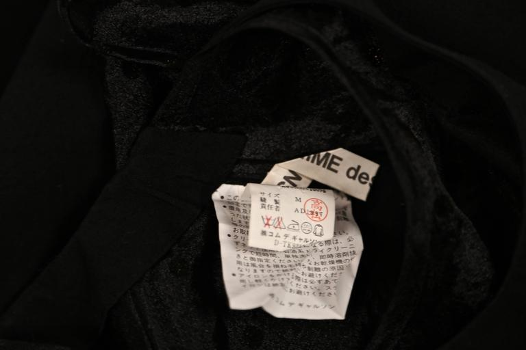 Women's or Men's 1997 COMME DES GARCONS black runway dress with sheet dotted tulle  For Sale
