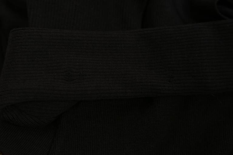 Azzedine Alaia Hooded Black Wool Zipper Dress, 1986  For Sale 1