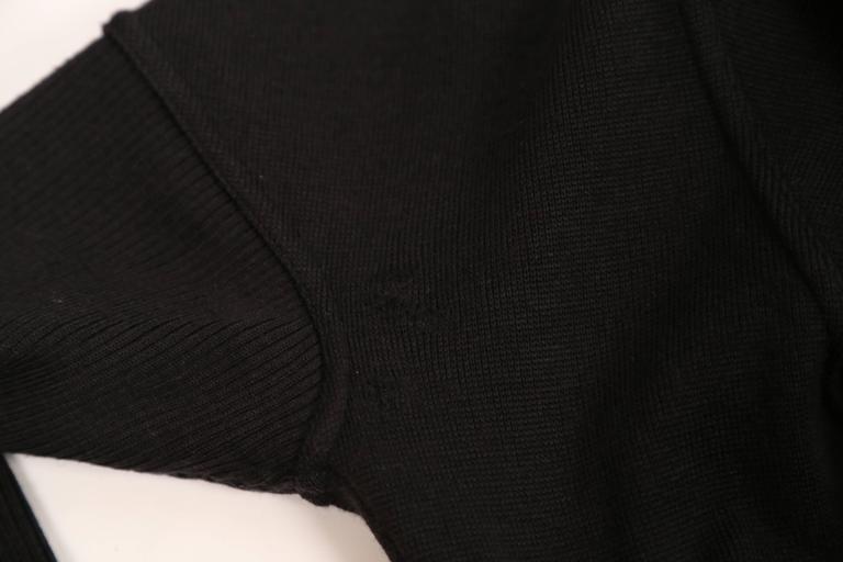 Azzedine Alaia Hooded Black Wool Zipper Dress, 1986  For Sale 2
