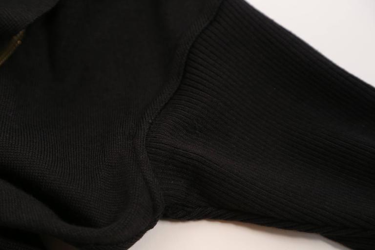 Azzedine Alaia Hooded Black Wool Zipper Dress, 1986  For Sale 3