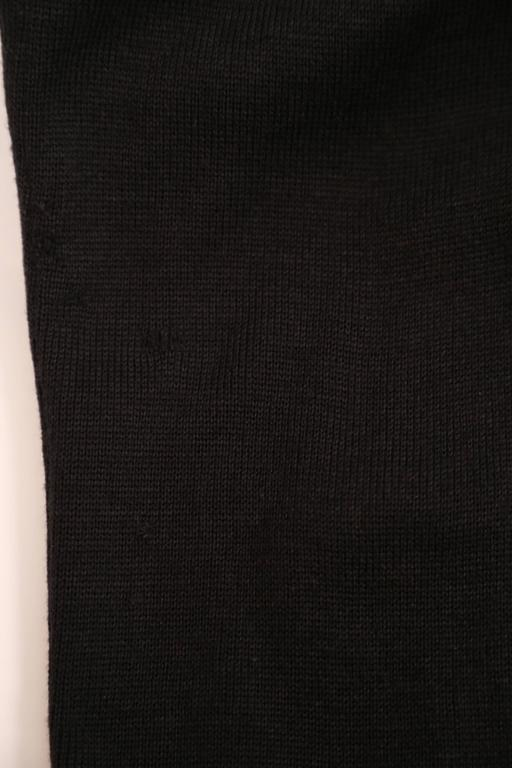 Azzedine Alaia Hooded Black Wool Zipper Dress, 1986  For Sale 4