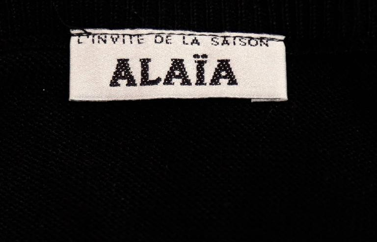 1980's AZZEDINE ALAIA black romper For Sale 1
