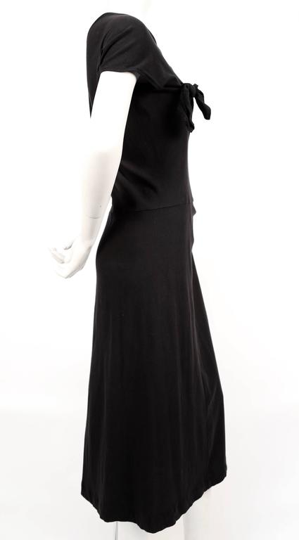 Black Comme des Garcons black knotted T-shirt dress, 2003  For Sale